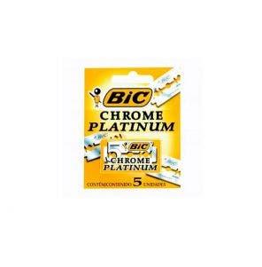 Lâmina de Barbear Bic Chrome Platinum c/5un