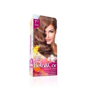 Tintura Bela Cor Mini Kit 7.7 Marrom Dourado