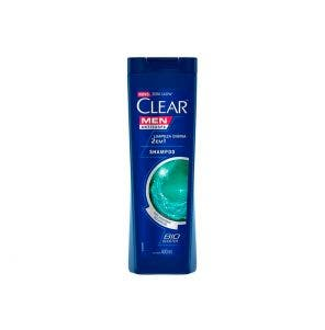 Shampoo Anticaspa Clear Men Limpeza Diaria 2X1 400ml