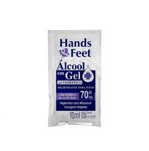 Álcool Gel Hands E Feet Sache 10ml