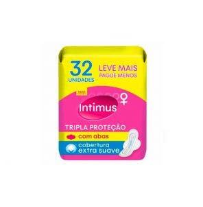 Absorvente Intimus com Abas Tripla Proteção Suave c/32un