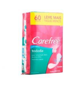 Absorvente Carefree Todo Dia Sem Perfume Leve 60 Pague 50