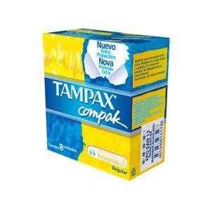 Absorvente Interno Tampax Compak Regular C/8Un