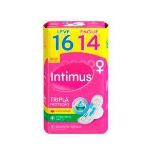 Absorvente Intimus com Abas Tripla Proteção Seca Leve 16 Pague 14