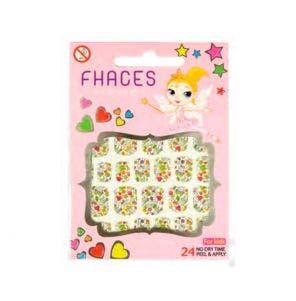 Adesivo Para Unhas Artisticas Infantil Fhaces Floral Branco