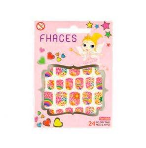 Adesivo Para Unhas Artisticas Infantil Fhaces Floral Rosa