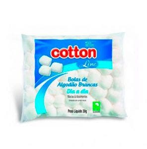 Algodão Cotton Line Bolas Brancas 30G