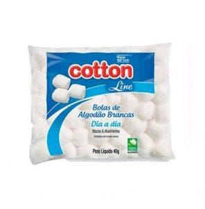 Algodão Cotton Line Bolas Brancas 40G