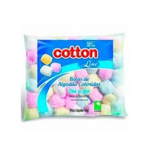 Algodão Cotton Line Bolas Coloridas 40G