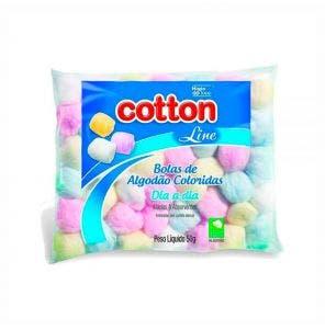 Algodao Cotton Line Bolas Coloridas Baby Care 50G
