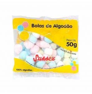 Algodao Sussex Bolas Coloridas 50G
