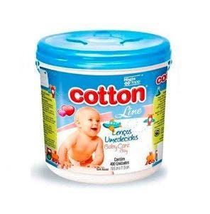Lenço Umedecido Cotton Line Baby Care Balde Azul C/400Un