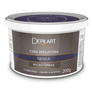 Cera Depilatoria De Microondas Depilart Premium Negra 200G