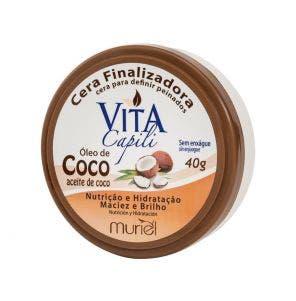 Cera Finalizadora Vita Capili Óleo De Coco 40g