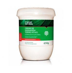 Creme Massagem D Água Natural Termo Ativo 650gr