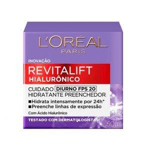 Creme Facial Loreal Revitalift Hialuronico Diurno FPS 20