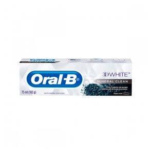 Creme Dental Oral B 3D Whitening Mineral Clean 102G