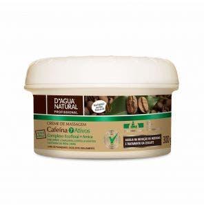 Creme Para Massagem D Agua Natural Cafeina 7 Ativos 300G
