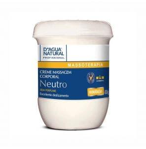 Creme Para Massagem D Agua Natural Neutro 650G