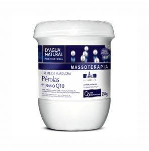 Creme Para Massagem D Agua Natural Perolas Q10 650G