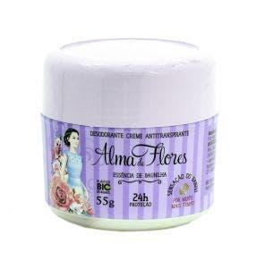 Desodorante Creme Alma De Flores Essencia De Baunilha 55g