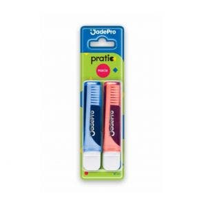 Escova Dental Jadefrog Prático Viagem Macia C/2un