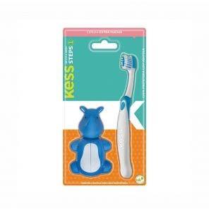 Escova Dental Kess Steps Com Capa Protetora
