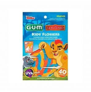 Fio Dental Gum Individual Flosser Disney Lion Guard C/40Un