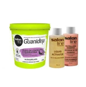 Guanidina Oleo De Coco E Queratina Alisa E Relaxa Salon Line 218G