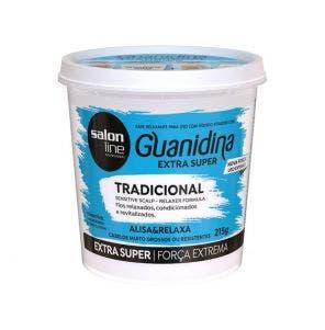 Guanidina Tradicional Extra Super Alisa E Relaxa Salon Line 215Gr