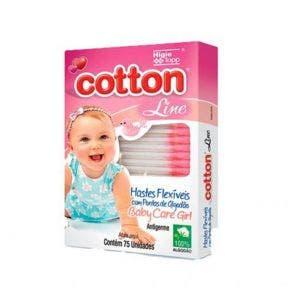 Hastes Flexíveis Cotton Line Baby Care Girl c/75un