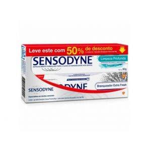 Kit Creme Dental Sensodyne Branqueador E Limpeza Profunda 90gr 51494