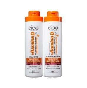 Kit Eico Shampoo + Condicionador Vitamina D 800ml