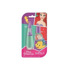 Kit Esmalte Impala Infantil Princesa Ariel Sua Voz Tem Poder 6ml 7.5ml