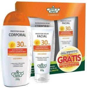 Kit Protetor Solar Flores E Vegetais Fps 30 200gr E Protetor Facial 30