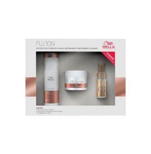 Kit Fusion Hidratação e Brilho Shampoo 250 ML + Máscara Tratamento Capilar 150 ML + Óleo Reflections Light 30ML