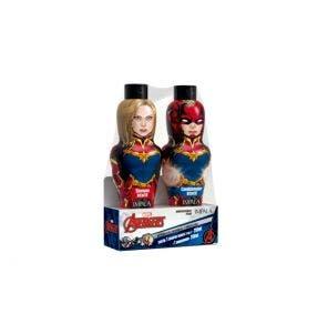Kit Shampoo 250ml + Condicionador 250ml Infantil Impala Lavengers Capita Marvel