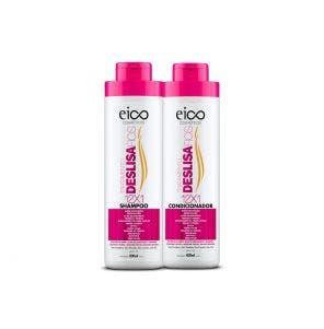 Kit Shampoo + Condicionador Eico Deslisa Fios 800ml