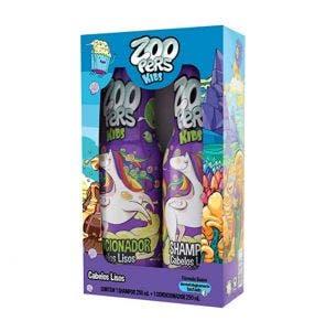 Kit Shampoo + Condicionador Zoopers Cabelos Lisos
