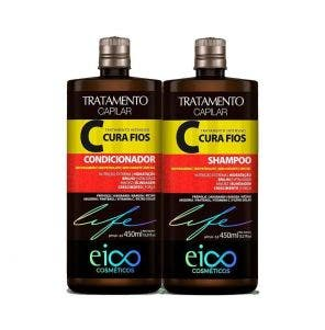 Kit Shampoo + Condicionador Eico Cura Fios 450ml