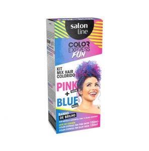 Kit Color Express Salon Line Fun Blue Rock E Pink Show