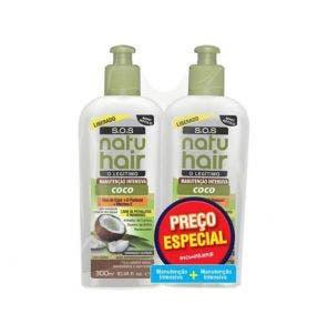 Kit Creme Multiação Natu Hair Óleo De Coco Manutenção Intensiva c/2un 300ml