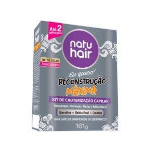 Kit De Cauterização Natu Hair Reconstrução
