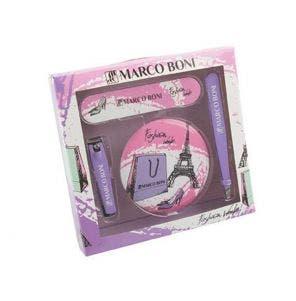 Kit Manicure Marco Boni Estojo Com 4 Itens