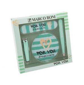 Kit Manicure Marco Boni Necessaire Com 4 Itens