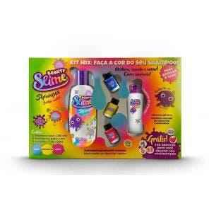 Kit Mix Beauty Slime Shampoo + Corantes + Adesivos