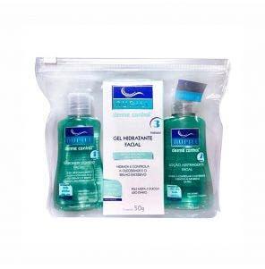Kit Nupill Travel Sabonete + Loção Adstringente + Gel Hidratante Derme Control