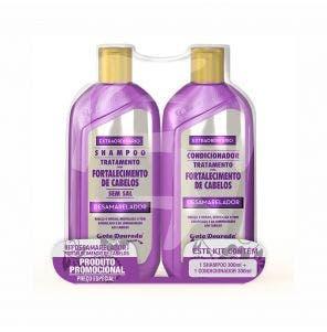 Kit Shampoo E Condicionador Gota Dourada Fortalecimento Desamarelador 300Ml