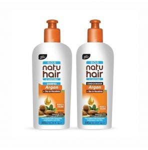 Kit Shampoo e Condicionador Natu Hair SOS Argan + Óleo De Macadâmia 300Ml