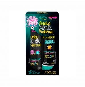 Kit Shampoo E Condicionador Novex Meus Cachos Santo Black Poderoso